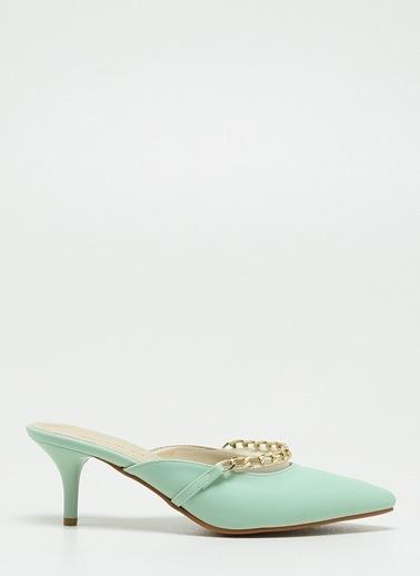 F By Fabrika F By Fabrika Maya Kadın Topuklu Ayakkabı Yeşil